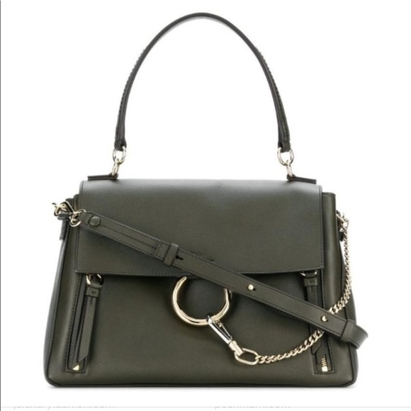 Chloe Handbags - CHLOE MEDIUM FAYE BAG IN GREEN